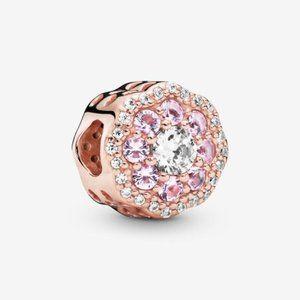 📿Pandora Pink Sparkle Flower Charm